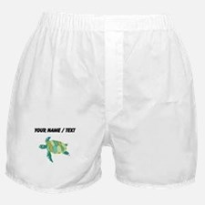 Custom Green Sea Turtle Boxer Shorts