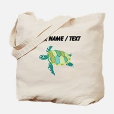 Custom Green Sea Turtle Tote Bag