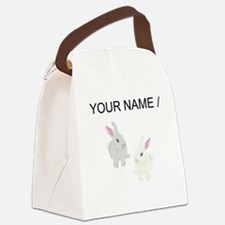 Custom Rabbits Canvas Lunch Bag