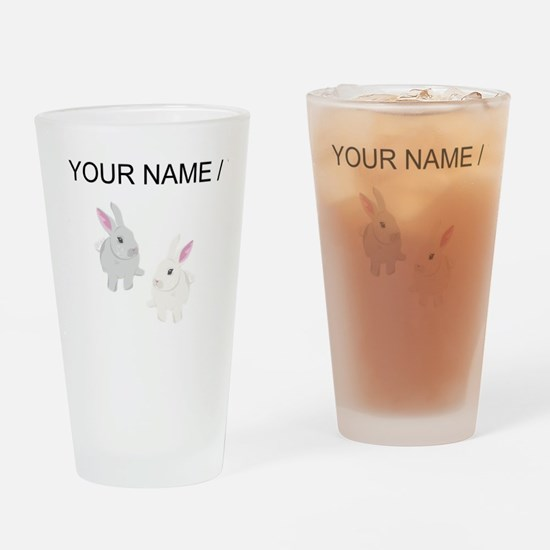 Custom Rabbits Drinking Glass