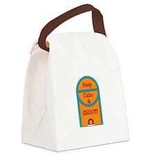 Basketball Free Throw Canvas Lunch Bag