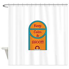 Basketball Free Throw Shower Curtain