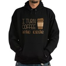 I Turn Coffee Into Programming Code Hoodie