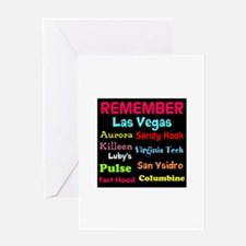 Remember Mass shootings, stop violence Greeting Ca