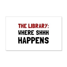 Library Shhh Happens Wall Decal