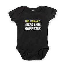 Library Shhh Happens Baby Bodysuit