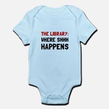 Library Shhh Happens Body Suit
