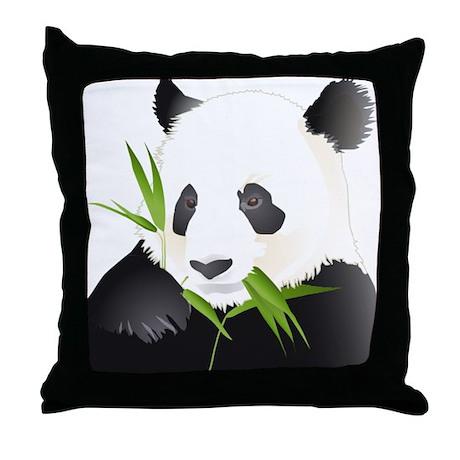 Panda Bear Throw Pillow by bonfiredesigns