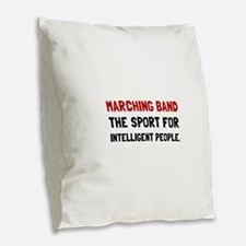 Marching Band Intelligent Burlap Throw Pillow