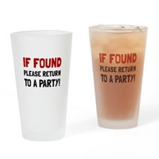 Return To Party Drinking Glass