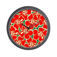 Cute Hawaiian flowers Wall Clock