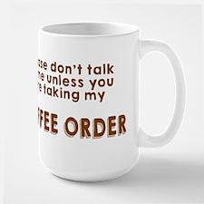 Taking coffee order Large Mug