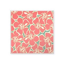 Red Hibiscus Hawaiian Flowers Sticker