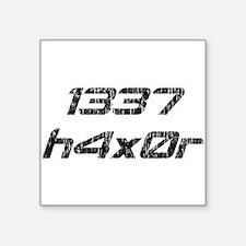 Leet Haxor 1337 Computer Hacker Sticker