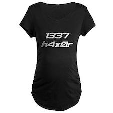 Leet Haxor 1337 Computer Hacker Maternity T-Shirt