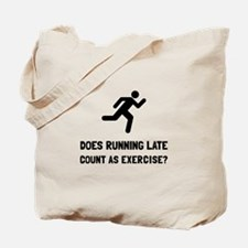Running Late Exercise Tote Bag