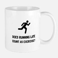 Running Late Exercise Mugs