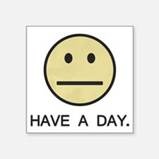Have a Day Smiley Face Sticker