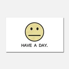 Have a Day Smiley Face Car Magnet 20 x 12