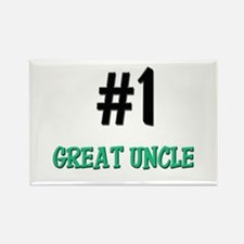 Number 1 GREAT UNCLE Rectangle Magnet