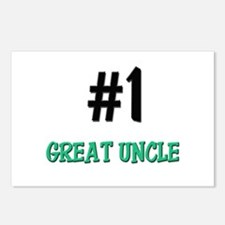 Number 1 GREAT UNCLE Postcards (Package of 8)