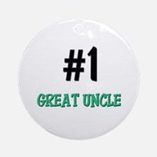 Number 1 GREAT UNCLE Ornament (Round)