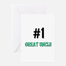 Number 1 GREAT UNCLE Greeting Cards (Pk of 10)