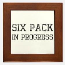 Six Pack In Progress Framed Tile