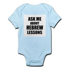 Ask me about Hebrew lessons Body Suit