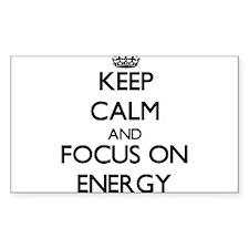 Keep Calm and focus on ENERGY Decal