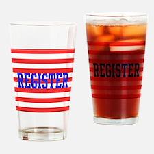 Cute Vote democrat Drinking Glass