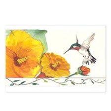 Adorable Hummers Postcards (Package of 8)