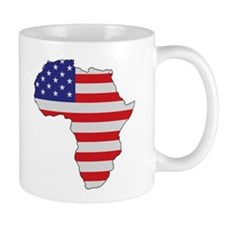 African American Africa United States Flag Mugs