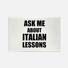 Ask me about Italian lessons Magnets