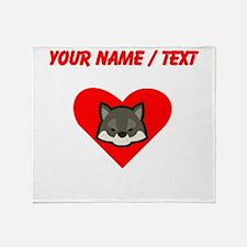 Custom Wolf Heart Throw Blanket