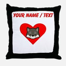 Custom Wolf Heart Throw Pillow