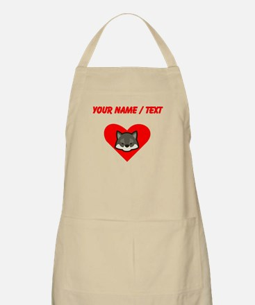 Custom Wolf Heart Apron