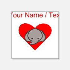 Custom Elephant Heart Sticker