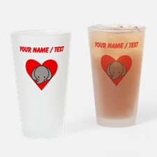Custom Elephant Heart Drinking Glass