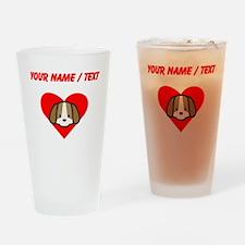 Custom Puppy Heart Drinking Glass