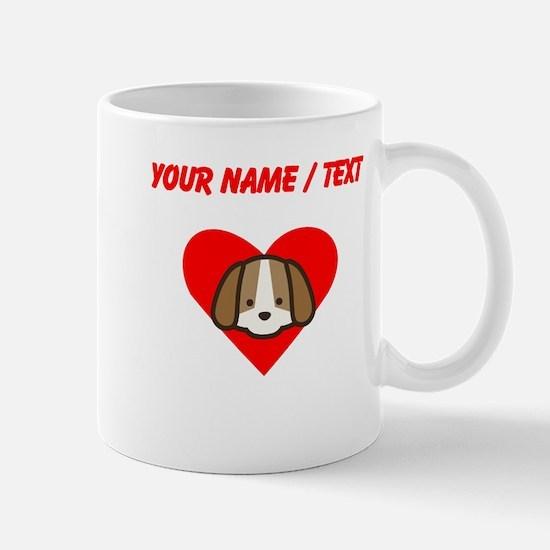 Custom Puppy Heart Mugs