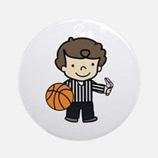 Basketball Official Ornament (Round)