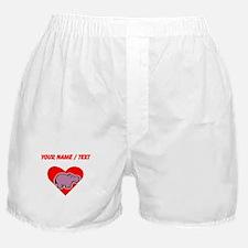 Custom Hippo Heart Boxer Shorts