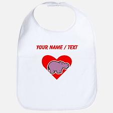 Custom Hippo Heart Bib