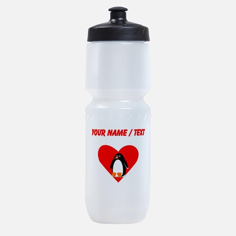 Custom Penguin Heart Sports Bottle