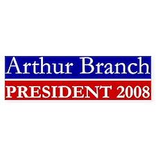 Arthur Branch President 2008 Bumper Bumper Sticker