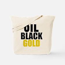 Oil Black Gold Tote Bag