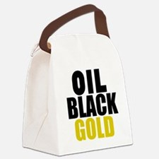 Oil Black Gold Canvas Lunch Bag