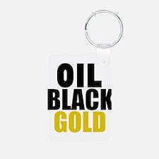 Oil Black Gold Keychains