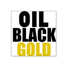 Oil Black Gold Sticker
